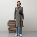 던스트(DUNST) WIDE SLEEVE CHECK SINGLE TRENCH COAT (CHECK) UDTR9F202W2