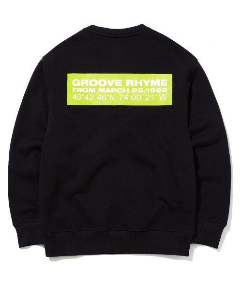 그루브라임(GROOVE RHYME) QUADRANGLE LOGO SWEAT SHIRTS (BLACK) [GMT504H43BKA]