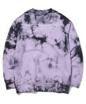 그루브라임(GROOVE RHYME) TRENDY TIE-DYEING  SWEAT SHIRTS (PURPLE) [GMT510H43PPA]