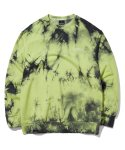 그루브라임(GROOVE RHYME) TRENDY TIE-DYEING  SWEAT SHIRTS (LIME) [GMT510H43LMA]