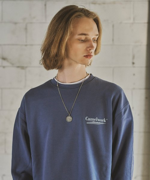 카멜워크(CAMEL WORK) 3 Way Sweatshirts(I.Blue)
