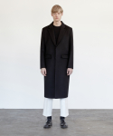 커렌트() CASHMERE SINGLE COAT MEN [BLACK]