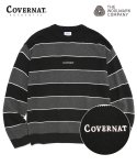 커버낫(COVERNAT) COVERNAT X TWC MULTI STRIPE KNIT CREWNECK BLACK