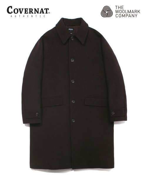 커버낫(COVERNAT) COVERNAT X TWC WOOL MAC COAT MOKA BROWN