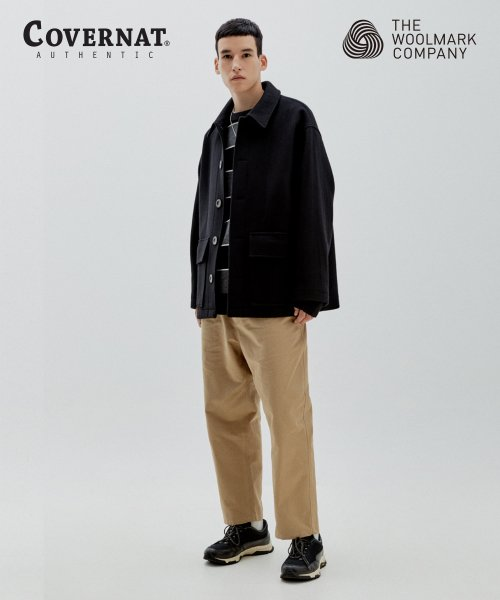 COVERNAT X TWC WOOL SHORT COAT BLACK