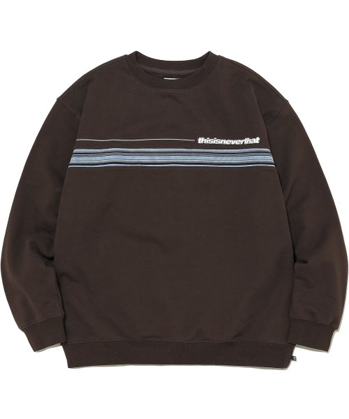디스이즈네버댓(THISISNEVERTHAT) Chest Stripe Crewneck Brown
