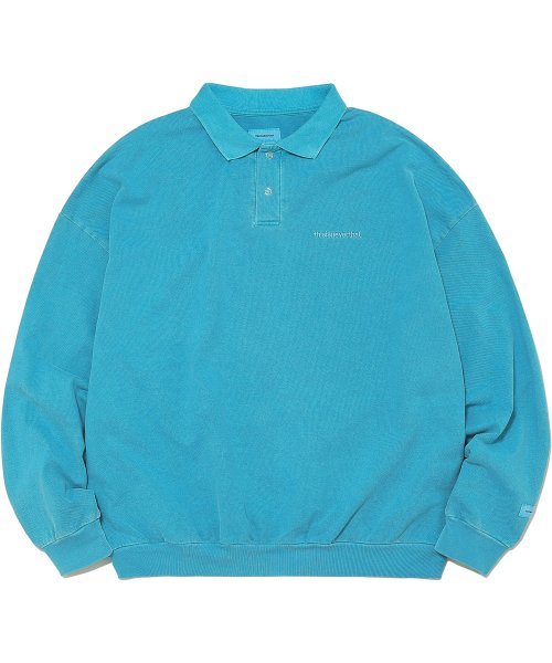 디스이즈네버댓(THISISNEVERTHAT) INTL. Logo Overdyed Polo Blue Green