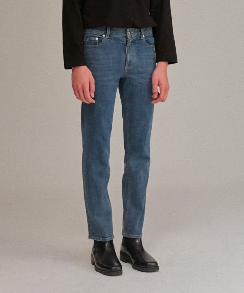 커렌트(CURRENT) CROP JEANS MEN [BLUE]