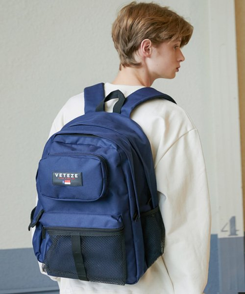 베테제(VETEZE) Retro Sport Bag (navy)
