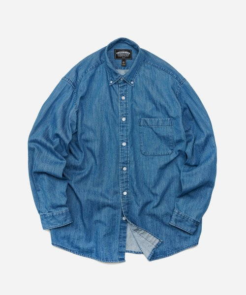 프리즘웍스(FRIZMWORKS) OVERSIZED DENIM SHIRT _ INDIGO