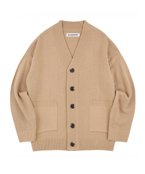 BASIC KNIT CARDIGAN_BEIGE