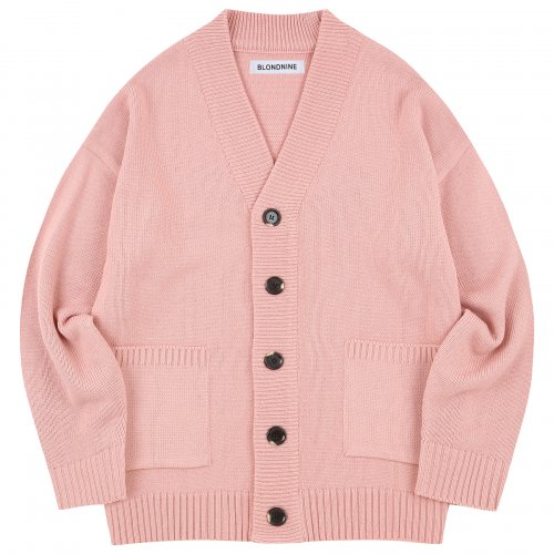 BASIC KNIT CARDIGAN_PINK