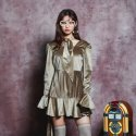 블루파이(BLUE PIE) Velvet Onepiece - LIGHT GOLD