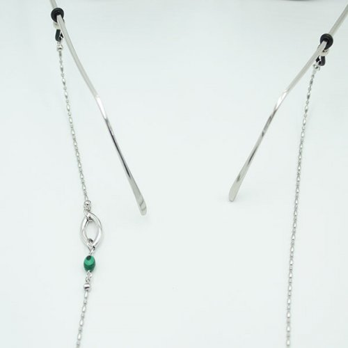 트레쥬(TREAJU) One link gemstone glasses chain