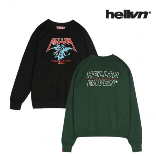 헬븐(HELLVN) [세트 상품][패키지] HORN ANGEL +BLANK PLUS LOGO SweatShirt - 5C