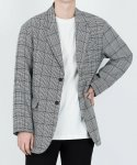 H.TOOTH CHECK BLAZER [RELAX FIT] (B.Gray)
