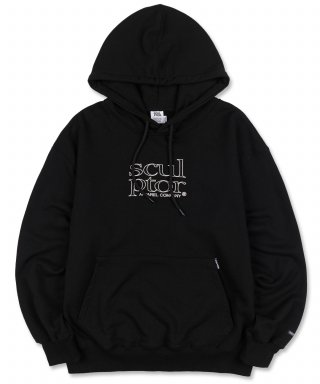 스컬프터(SCULPTOR) Retro Outline Hoodie Black