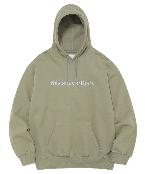 디스이즈네버댓(THISISNEVERTHAT) T-Logo Hooded Sweatshirt Light Olive