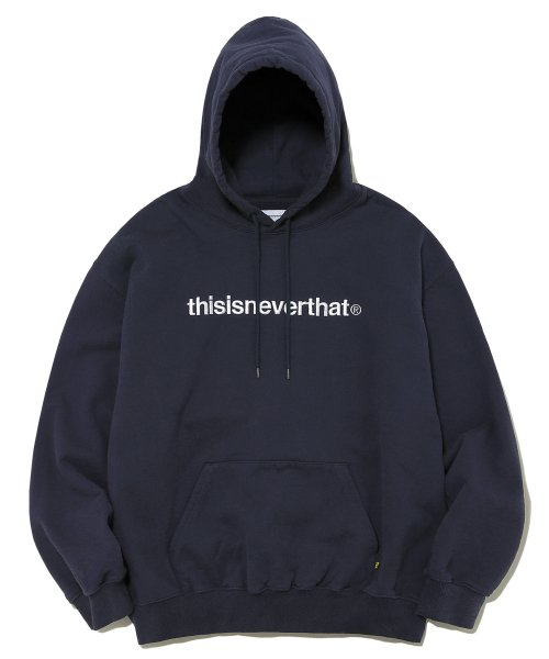 디스이즈네버댓(THISISNEVERTHAT) T-Logo Hooded Sweatshirt Navy