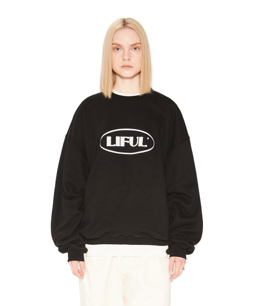 라이풀(LIFUL) OVAL LOGO SWEATSHIRT black