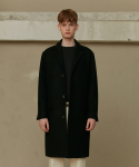 BLACK WOOL CC COAT (TC1CTVW0801)