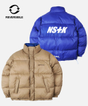 네스티킥() [NK] NM REVERSIBLE DOWN JACKET (BEIGE-BLUE) (19FW-K205)