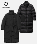 네스티킥(NASTYKICK) [NK] NM PACKABLE REVERSIBLE LONG DOWN JACKET (BLK) (19FW-K201)