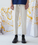 널() Side Banding Tapered Crop Pants_Cream