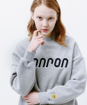 론론(RONRON) BOUCLE LOGO POINT SWEATSHIRT GRAY