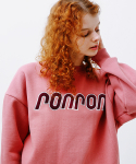 론론(RONRON) BOUCLE LOGO POINT SWEATSHIRT INDIPINK