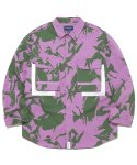 디스이즈네버댓(THISISNEVERTHAT) Jungle Shirt Jacket Purple Camo