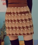 로라로라(ROLAROLA) (SK-19731) HOUND TOOTH KNIT SKIRT BROWN