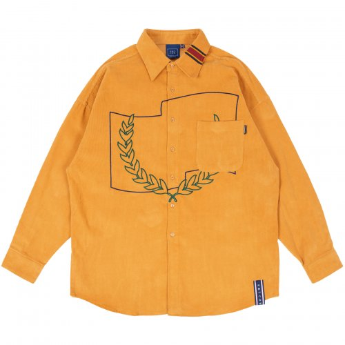 로맨틱크라운(ROMANTIC CROWN) CORDUROY WIDE SHIRT_YELLOW
