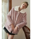 모어댄라이크(MORE THAN LIKE) HEART BUTTON FUR JACKET - PINK