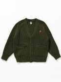 벤시몽() SLOW B HEAVY WOOL CARDIGAN - KHAKI (UNISEX SHORT)