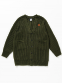 벤시몽() SLOW B HEAVY WOOL CARDIGAN - KHAKI (UNISEX LONG)