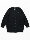 벤시몽() SLOW B HEAVY WOOL CARDIGAN - NAVY (UNISEX LONG)