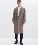 가먼트레이블(GARMENT LABLE) Notched Lapel Long Coat - Check