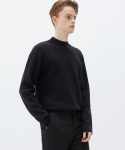 가먼트레이블(GARMENT LABLE) Twofold Half Neck Knit - Black