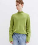 가먼트레이블(GARMENT LABLE) Twofold Half Neck Knit - Avocado