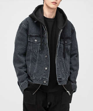 브랜디드(BRANDED) 2001 SLOW WORKER DENIM WASH. JACKET [BLACK INDIGO]