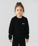 골스튜디오(GOALSTUDIO) (KIDS)BACK LOGO SWEATSHIRTS - BLACK