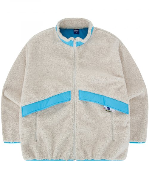 PLUS FLEECE ZIP-UP JACKET (IVORY)