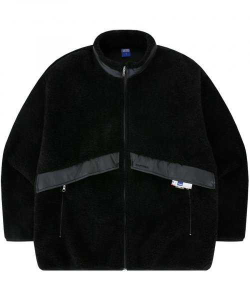 PLUS FLEECE ZIP-UP JACKET (BLACK)