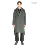 라이풀() DOUBLE BREASTED ROBE COAT khaki gray