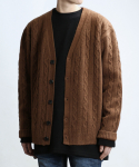 쟈니웨스트() CABLE CASH CARDIGAN (Brown)