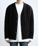 쟈니웨스트() CABLE CASH CARDIGAN (Black)