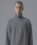 아더사이드(OTHERSIDE) OSD STRIPE POLANECK T SHIRTS(BLACK)