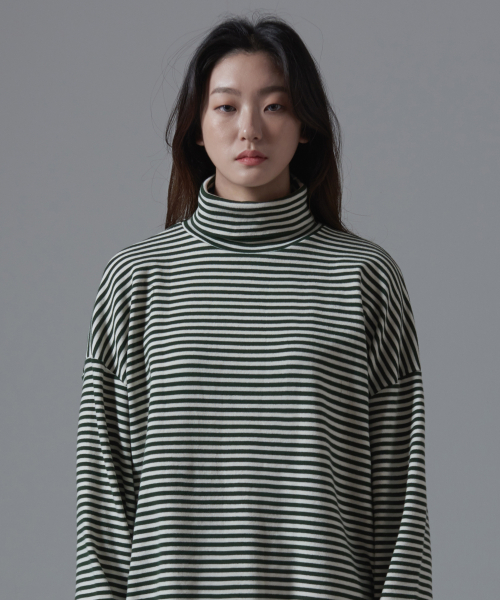 아더사이드(OTHERSIDE) OSD STRIPE POLANECK T SHIRTS(GREEN)