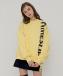 로켓런치(ROCKET X LUNCH) [UNISEX] R TIMESLIP SWEATSHIRT_YELLOW
